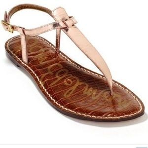 Sam Edelman Rose Gold Leather Sandals